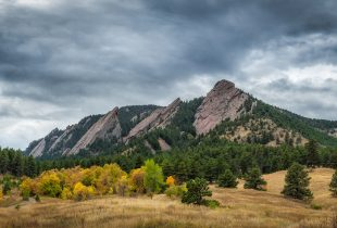 Flatiron Mountains in Boulder Colorado